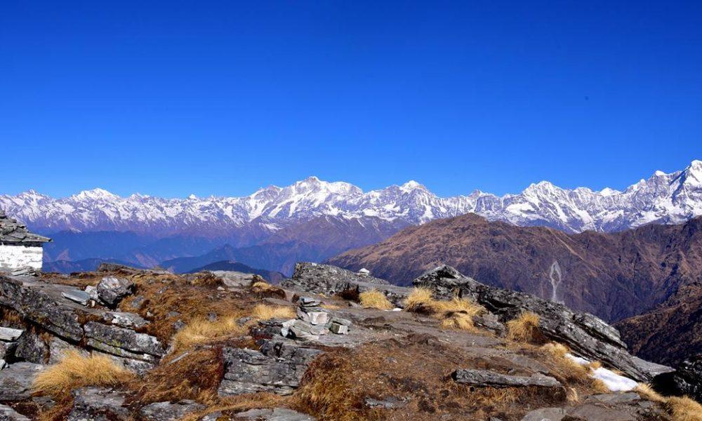 View of Himalaya from Chandrashila Peak