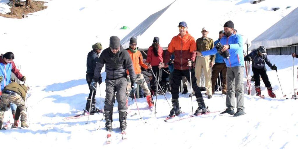 skiing in Chopta