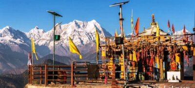 Kartik Swami Temple- Himalaya in the backdrop